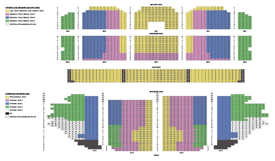 Ohio Theatre Seating Map